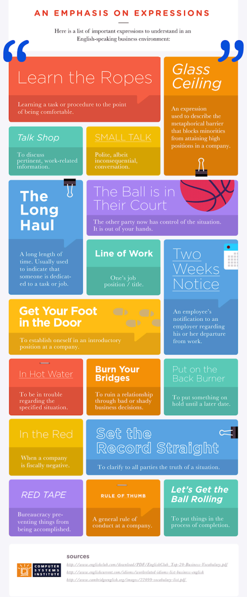Beginner's Guide to Business English Infographic