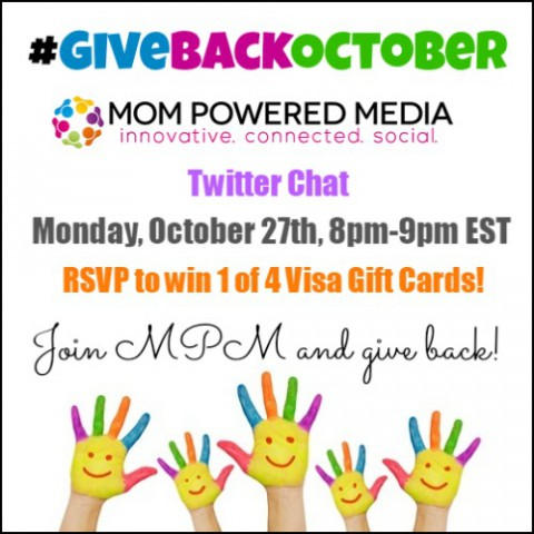 Join us for the #GiveBackOctober Twitter Party!