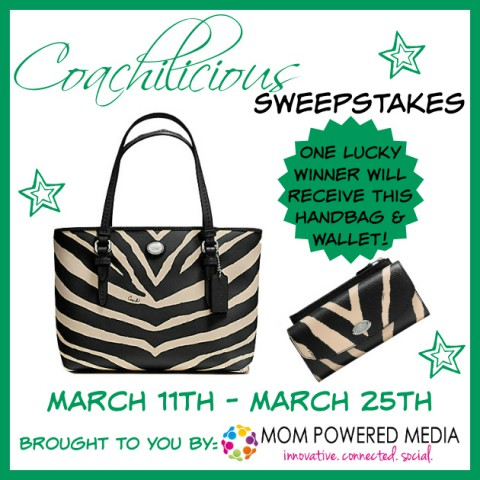Coachilicious Sweepstakes – Zebra Handbag and Wallet
